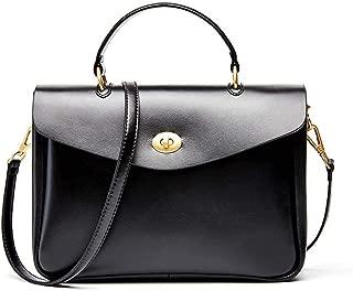 Handbags - Leather Female Bag Ladies Handbag Temperament Minimalist Fashion Briefcase Shoulder Bag