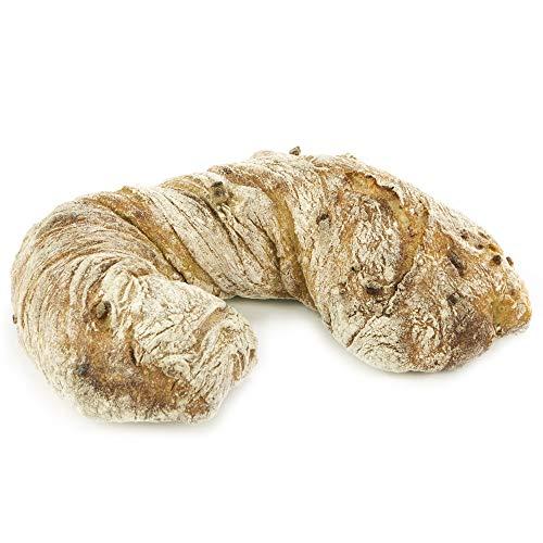 Vestakorn Handwerksbrot, Pain Doblo 520g - frisches Brot mit Schafskäse, Paprika & Peperoni – gebacken nach 24 Stunden Teigruhe, selbst aufbacken in 10 Minuten