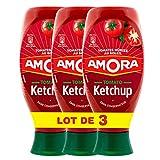 Amora Ketchup Nature flacon 850g - Lot de 3