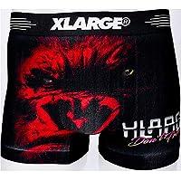 X-LARGE エクストララージ メンズ シームレス ローライズ ボクサーパンツ M L XL dwearsステッカー入り ブランド 男性 下着 誕生日 プレゼント <リアルレッド LLサイズ>