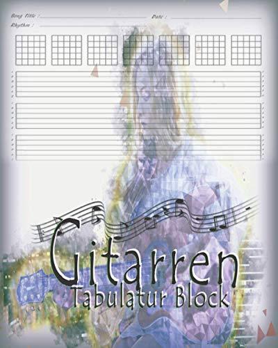 Gitarren Tabulatur Blok: Notizbuch Für Musiker Zum Selberschreiben | Tabulaturlinien und Akkorddiagrammen | Leeres Gitarrentabulaturbuch Für Musikkomposition Und Songwriting