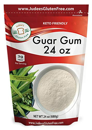 Judee's Guar Gum Powder (24 Oz /1.5 lb) 3g Fiber per Serving, Low Carb Thickener, Keto Friendly, Gluten Free Baking, Dedicated Gluten & Nut Free Facility, USA Packaged & Filled