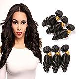 Loose Wave Brazilian Hair 3 Bundles 8 10 12 Inch 100% Virgin Human Hair 9A Natural Hair Double Weft Natural Black for Women