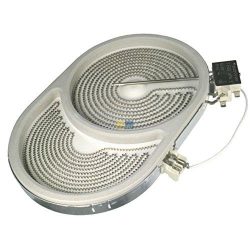 Strahlheizkörper Zweikreis HiLight 265x170mm 2400/1500W 230V oval Herd Glaskeramik EGO 10.57411.604