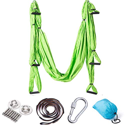 Review XYWN Aerial Yoga Swing Set Ultra Strong Antigravity Yoga Hammock Aerial Trapeze Kit Inversion...