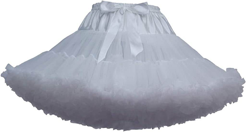 Gergeos Women's 1950s Vintage Petticoat Ballet Skirts Bubble Tutu Tulle Prom Skirts for Halloween Christmas Party(23 Colors)