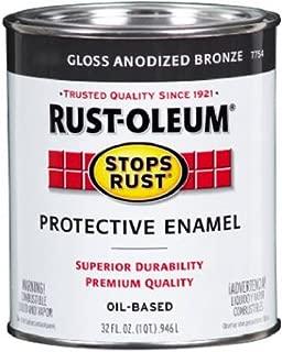 Rust-Oleum 7754502 Protective Enamel Paint Stops Rust, 32-Ounce, Anodized Bronze
