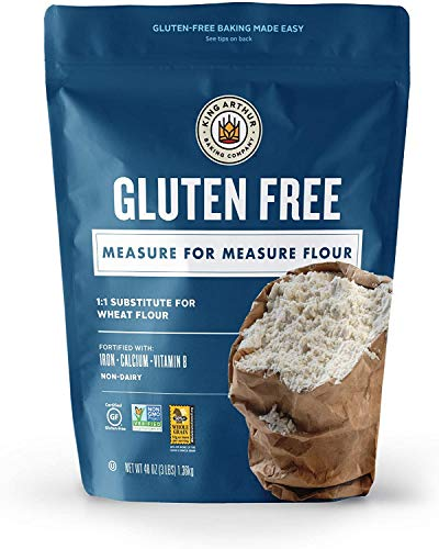 King Arthur Flour, Measure for Measure Flour, Certified Gluten-Free, Non-GMO Project Verified, Certified Kosher, 3 Pounds (Packaging May Vary), 2 Pack