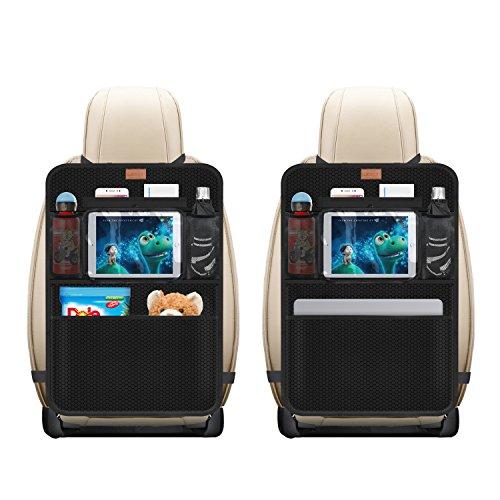 """AEMIAO 2 PCS Protezione Sedile Auto Organizzatore, Proteggi Sedile Posteriore Auto Bambini Universal Coprisedile Auto Bambini Impermeabile Supporto per Tablet 10"""""""