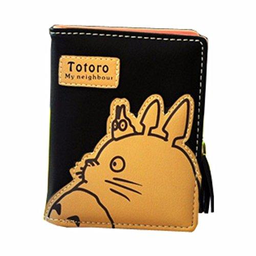 animanga rare Brieftasche GELDBÖRSE PORTEMONNAIE KREDITKARTENETUI Schwarz Gelb Totoro new