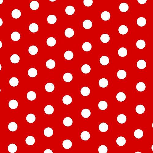 MOOXIBIKE Polka Dot rot Mini Fahrradfolie mit Muster für Rennrad, MTB, Trekkingrad, Fixie, Hollandrad, Citybike, Scooter, Rollator für circa 13 cm Rahmenumfang