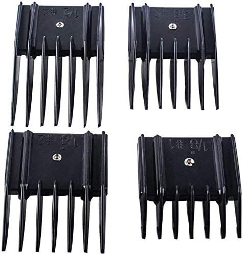 Poweka - Fijación de peine de guardias de cortacésped compatible con las cortacéspedes Oster, guías de peine de cortacésped, 4 unidades