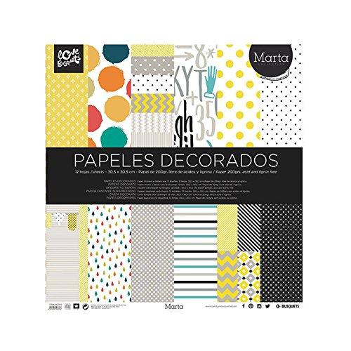 Busquets - Papeles Decorados Scrapbooking Marta 30,5x30,5