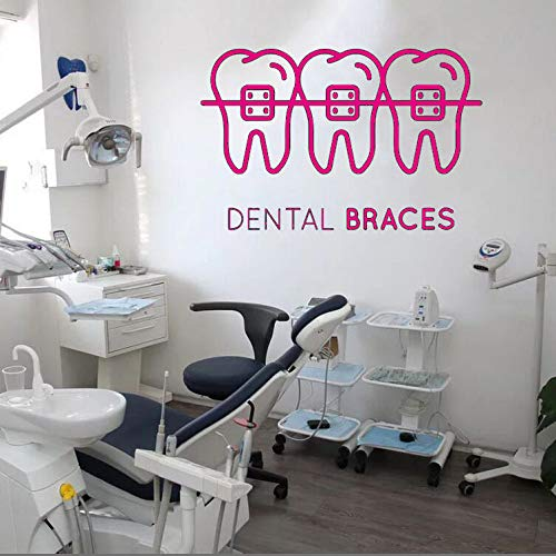 Zahnpflege Wandaufkleber Zahnklinik Vinyl Wandtattoo Abnehmbare Dental Shop Dekoration Abnehmbare Quote Fenster Aufkleber 89x57 cm
