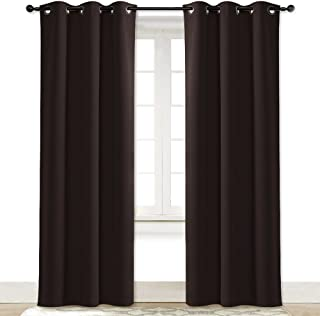 NICETOWN Blackout Curtain Room Darkening Panel Energy Smart Light Blocking Solid Grommet Blackout Curtain/Drape for Patio (1 Piece, 42 inches x 84 inches, Toffee Brown)