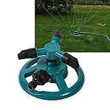 Camidy 3 Boquillas de Riego por Aspersión Manguera de Riego Completamente Circular Sistema de Riego de Planta Giratoria para Césped de Jardín Al Aire Libre