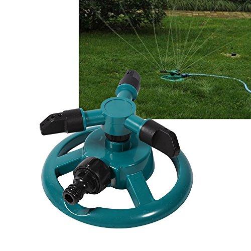 Rotierender Bewässerungssprinkler,Verstellbar Rotating Watering Sprinkler 360 ° Drehbar Rasensprenger Rasen Bewässerung Sprinkler 3 Arm Düse, Rohr, Schlauch Bewässerung System,ABS Material,Dauerhaft