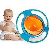 Xrten Gyro Bowl,Kinder 360 drehende Anti Verschütten Schüssel Fütterung Schüssel