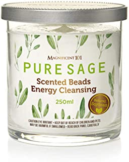 MAGNIFICENT 101 Pure Sage Scented Beads for House Energy Cleansing, Banish Negative Energy, Spiritual Purification and Cha...