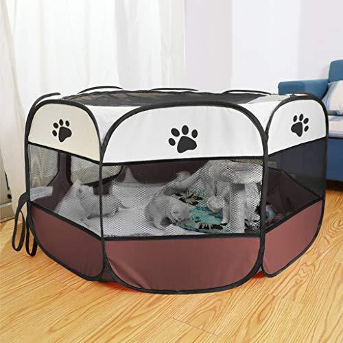 LUGEUK Sala de Parto para Gatos Caja de Arena para Gatos Embarazada Carpa de cría de Perros Gato Embarazada Suministros de producción para Mascotas Cerrados (Color : B, Size : L)