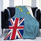 YuLiZP Decke Wohn Kuscheldecken Flagge Von Tuvalu Flauschige Decke Ganzjährig Leicht Und Weich Bequeme Wohnkultur Decke Bett Sofa Stuhl Geeignet Für Erwachsene Und Kinder-80X60 Inch