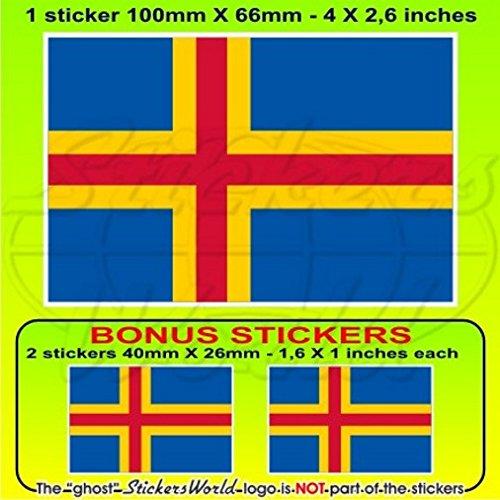 Îles Aland drapeau Finlande ahvenanmaa finlandais 10,2 cm Bumper Sticker en vinyle (100 mm), en x1 + 2 Bonus