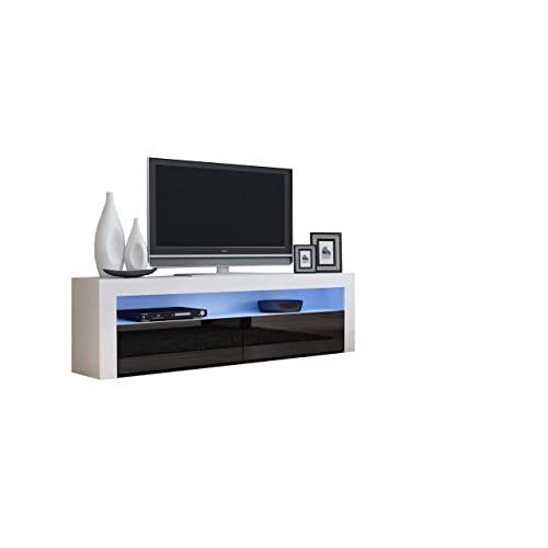 6f720b12c8d TV Console MILANO Classic WHITE - TV stand up to 70-inch flat TV screens