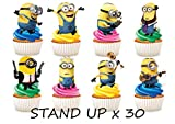 30 x Minions Party Stand up Essbare Papier Cupcake Topper Kuchen