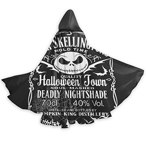 Amanda Walter Jack Skellington Daniel ist an Halloween für Unisex Wizard Cloak Ärger Machen, Süßes oder Saures, Party, Karneval, Dress Up One Size Black