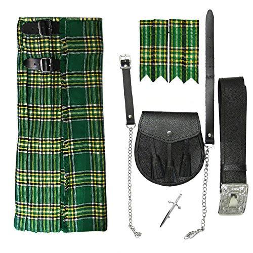 Tartanista - Ensemble kilt 5 pièces Honour Of Scotland - homme - irlandais - Tour de taille 102cm longueur 61cm
