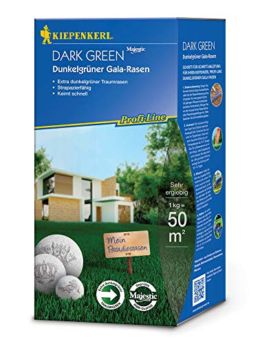 Rasensamen - Profi-Line Dark Green - Dunkelgrüner Gala-Rasen (1 kg) von Kiepenkerl