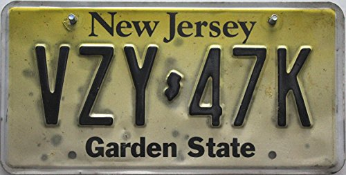 USA Nummernschild NEW JERSEY Garden State , Kennzeichen US License Plate , Autoschild - Metallschild
