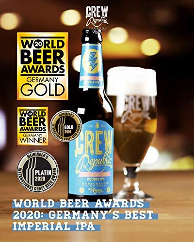 CREW Republic® Craft Bier 7:45 Escalation, Double India Pale Ale | World Beer Awards Gewinner Imperial IPA 2020 | Bierspezialität aus Bayern nach deutschem Reinheitsgebot (20 x 0,33l) - 3