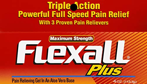 Flex-All Plus Maximum Strength Gel, 4-Ounce Tubes (Pack of 3)