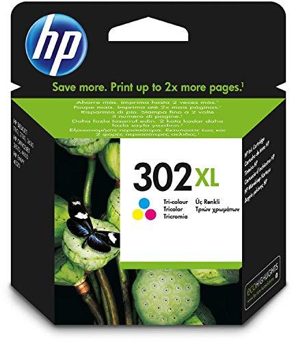 HP F6U67AE HP 302 HP302 - Cartucho de tinta para impresora HP Deskjet 3630 de alto rendimiento tricolor (1 x XL)