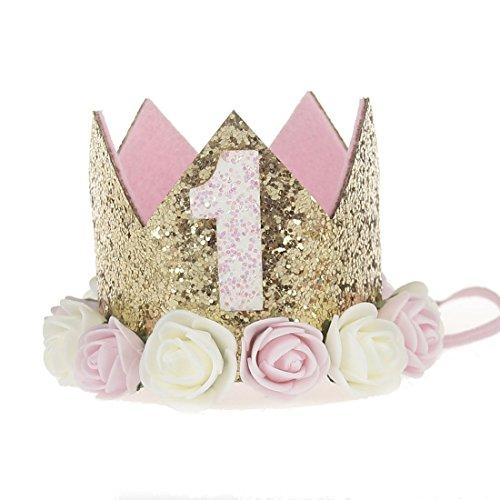 Jmitha 1 Paquete recién nacido y bebés arco del pelo de la venda elástico bebé turbante pelo niñas Corona Reina diadema (blancas 1)