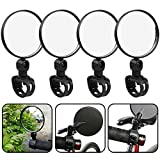 WENTS Bicycle Mirror 4 Pack Adjustment Bicycle Rearview Mirrors, 360° Rotation Cycling Rotatable