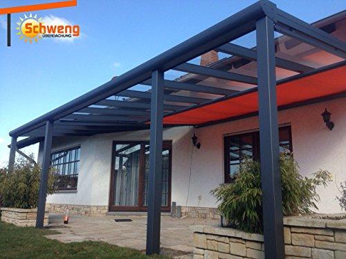 Hochwertige Terrassenüberdachung Schweng 16mm Polycarbonatplatten B: 5,00m x 3,00m T