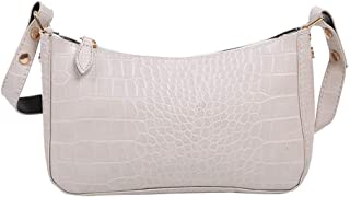Everpertuk Damen Schultertasche Krokodilmuster Leder Messenger bag Unterarm-Paket Frauen Clutch Bag, Retro Umhängetasche B...