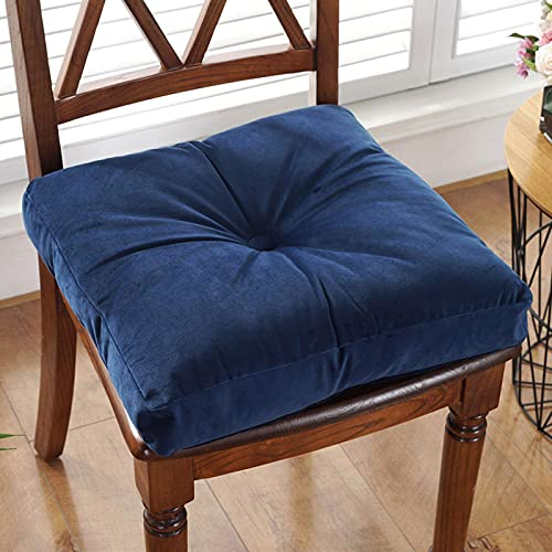 GAXQFEI Floor Pillow Square Meditation Cushion Floor Seating for Adults Oversized Tufted Seat Cushion Chair Cushion for Reading Nook Yoga Meditation Pillow-Dark Blue 40X40X10Cm(16X16X4Inch)