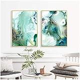 CHENSHU Abstrakte Mintgrün Marmor-Wandbilder, Gemälde, Galerie Poster und Drucke, für Wohnzimmer, Dekoration, 60 x 80 cm, ohne Rahmen