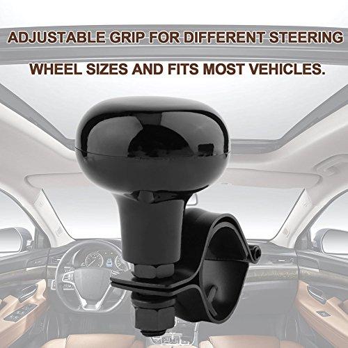 Swiftswan Auto Lenkrad Power Griff Ball Handsteuerung Auto Grip Knob Drehen Helfer (Farbe: Schwarz)