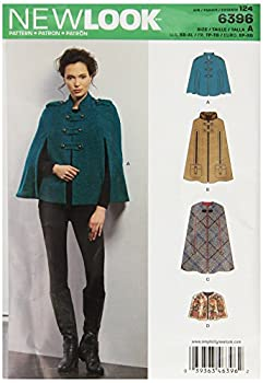 New Look Sewing Pattern UN6396A Autumn Collection Misses  Capes & Capelets Sewing Patterns A  XS-S-M-L-XL