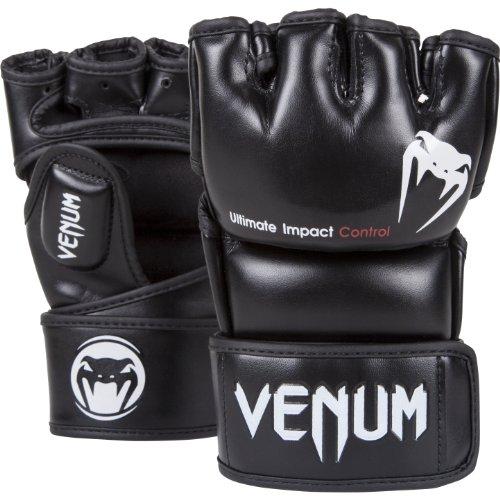 VENUM Impact Guantes de MMA, Unisex Adulto, Negro, L/XL