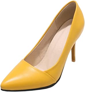 MisaKinsa Women Office Heels Pumps Shoes Slip On