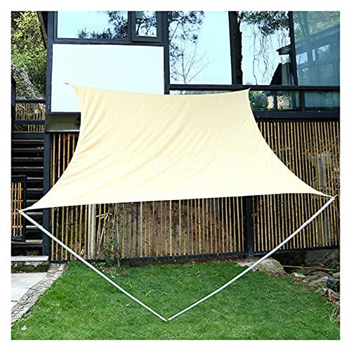 GuoWei Toldo Vela De Sombra, Patio De La Piscina 95% Protección Rayos UV Rectangular Toldo, Terrazas De Jardín Toldo Resistente Al Desgarro, 17 Tamaño (Color : Beige, Size : 4x6m)