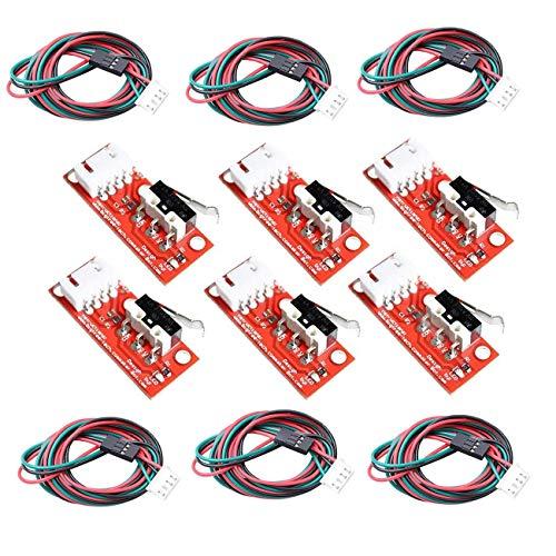 GTIWUNG 6 Stück Mechanischer Endschalter mit Kabel für 3D-Drucker Makerbot Prusa Mendel RepRap Mega 2560 1280 CNC Arduino RAMPS 1,4