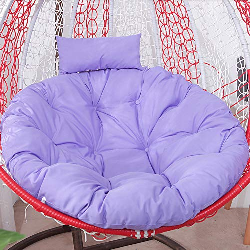 HAOTENG Cojín grueso para colgar con la cabeza, cojín para silla Nest Swing suave y cómodo para silla de huevo, para cesta colgante de asiento, color morado claro diámetro 105 cm