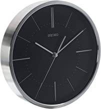 Seiko quiet sweep hand aluminium case wall clock Diameter 25 cm, AA, QXA715A, Silver