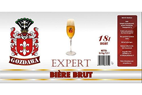 GOZDAWA Bière Brut (cerveza de champán) – Kit de cerveza de 3,4 kg para preparar cerveza hasta 23 litros